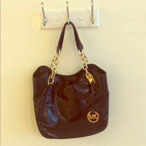 MICHAEL KORS - BLACK SNAKE SKIN bag